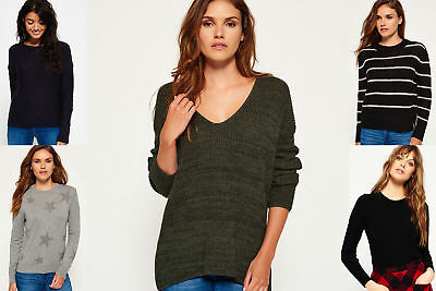 New Womens Superdry Knitwear Selection - Various Styles & Colours 2703
