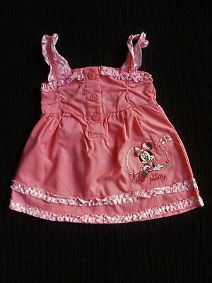 Baby clothes GIRL newborn 0-1m Disney Minnie Mouse bright pink dress SEE SHOP!
