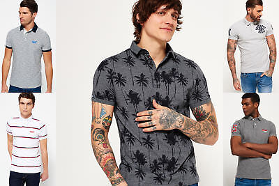 New Mens Superdry Polo Shirts Selection - Various Styles & Colours 2703