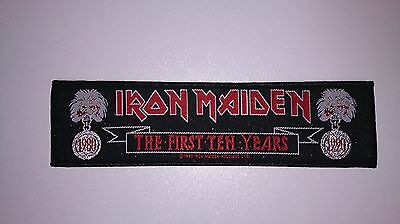 Iron Maiden the first ten years 1990 VINTAGE superstrip music patch Sew On