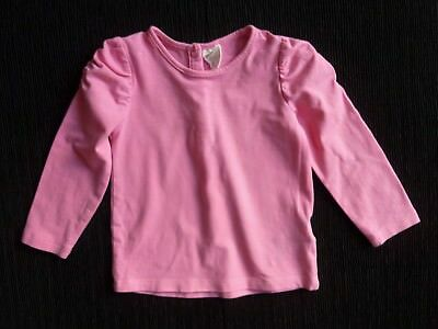 Baby clothes GIRL 6-9m H&M bright pink soft, long sleeve top/t-shirt SEE SHOP!