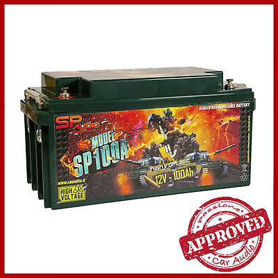 SP AUDIO SP100 AGM BATTERIA 100A/4000A MAX Impianto