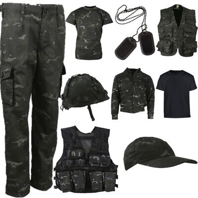 WORLD BOOK DAY BOYS ARMY COSTUME TROUSERS T-SHIRT VEST BAG CAP DOG TAGS CAMO