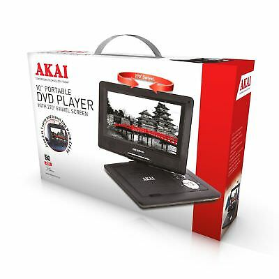 """Akai 10"""" Portable DVD Player Rechargeable Battery"""