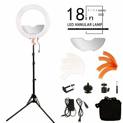 BYWLWLMY 18 inch 240 Led Ring Light Kit Dimmable Photo Studio Video Portrait Set
