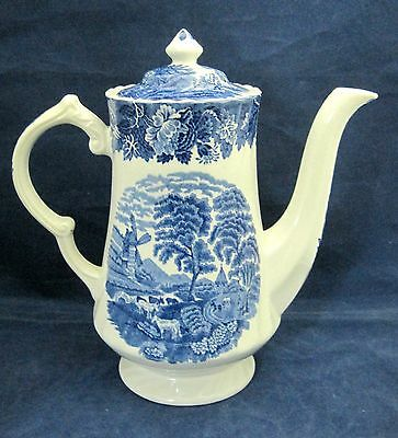 Enoch Wood's English Scenery Swirl Woods Ware Made in England Coffee Pot Lid SHP