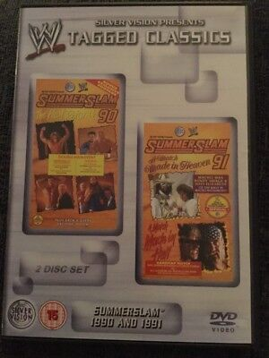 WWE Tagged Classics- Summerslam 1990 & 1991 DVD (2 Disc Set) WWF RARE