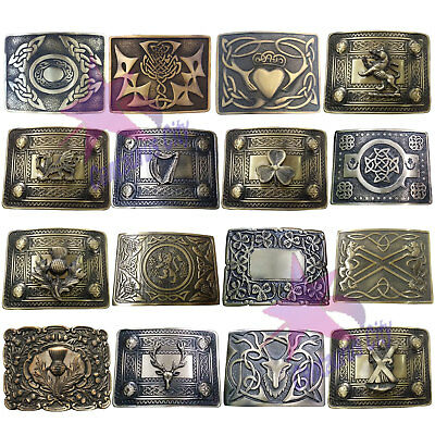 CC Men's Scottish Kilt Belt Buckle Various Design Antique Finish Celtic Buckles
