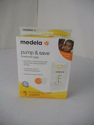 Medela Pump & Save 20 Breastmilk Bags NEW!!