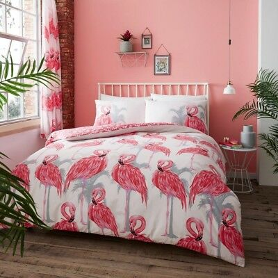 New Luxury Flamingo Pink Duvet Covers Quilt Covers Reversible Bedding Sets GC
