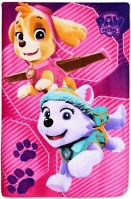 Novelty Girls Paw Patrol Character Super Soft Faux Fur Fleece Throw Blanket Gift