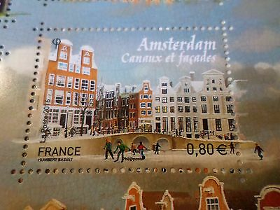 FRANCE, 2016, timbre CAPITALES EUROPEENNES, AMSTERDAM CANAUX FACADES neuf** MNH