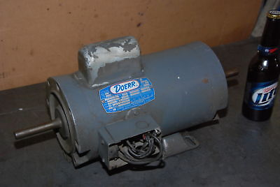 Doerr 1.5HP Single phase Electric Motor;97H-8E;1725RPM;fr.XK56CFCZ INV=26836