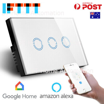 NEW AU Approved SMART HOME Alexa & Google Home WiFi Wall Switch 3 gang SmartLife