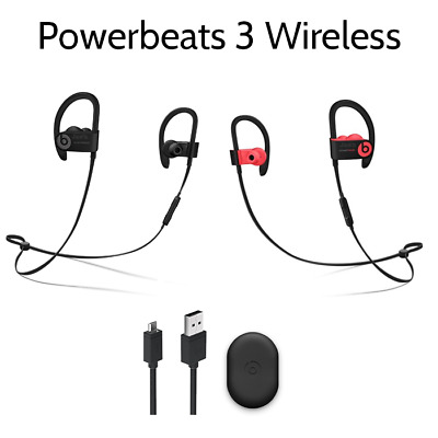 Authentic Beats by Dr Dre Powerbeats3 Wireless In Ear Headphones - Black Red