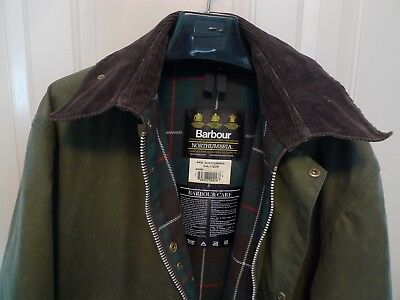 Barbour- A400  Northumbria Waxed Cotton Jacket- Heavyweight- Made @ England-444