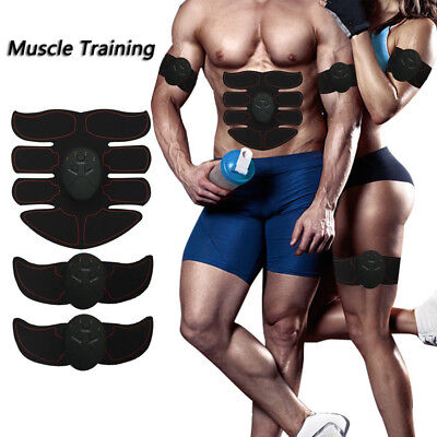 US Seller ABS Muscle Training Gear Arm Waist Magic EMS Body Exerciser Simulation