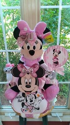 Minnie / Mickey Mouse Tricycle Diaper Cake  made to order for  girl or boy .