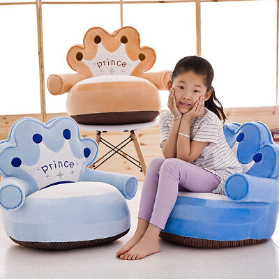 Baby Bean Bag Cartoon Crown Bear Baby Chair Toddler Nest Puff Seat Skin Upscale