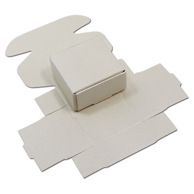 White Kraft Paper Square Chocolate Candy Box Wedding Party Favor Box Small Size