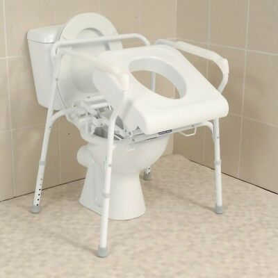 Lifting Commode Seat Lift Assist Senior Care Device Bathroom Aide Safety Handles