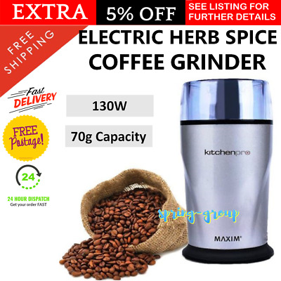 Coffee Grinder Electric Herbs Spice Nut Crusher Mixer Grinding Mill Tool