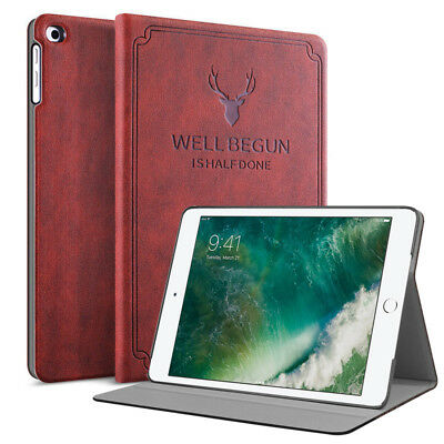 For New Apple iPad 5th Generation 9.7 2017 / 6th 2018 Leather Case Back Cover