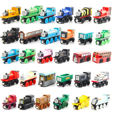 Thomas and Friends Cartoon Character Wooden Train Magnetic Toy for Children Boys