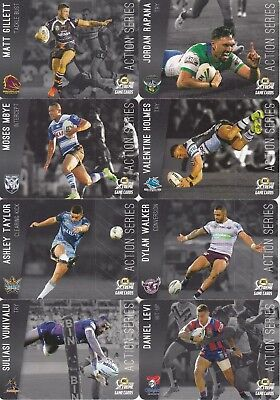 2018 Nrl Xtreme Game Action Series Trading Cards - Taylor, Vaughan, Cleary,