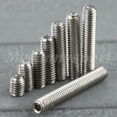 50X Metric M3 4-20mm Stainless Steel Allen Hex Socket Cup Points Grub Screws UK