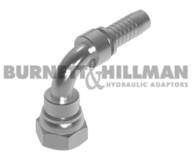 Burnett & Hillman BSP Swivel Female x Hose-Tail 90° Swept Elbow Fitting/Adaptor