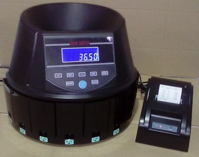 AUSCOUNT COIN COUNTER  AUS960 WITH PRINTER !! EXTRA QUICK 250+ coins per min.