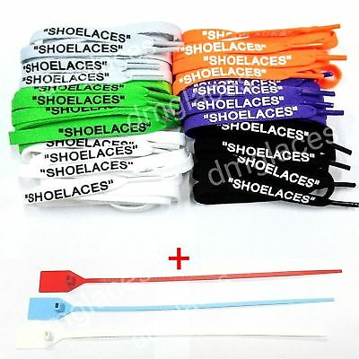 "e0239fa934a4 SHOELACES"" FLAT LACES Zip Tie Replacement Off-White"