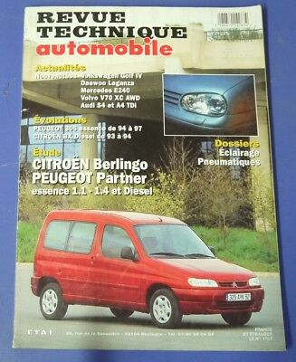 Revue technique automobile rta 602 (1998) Peugeot partner citroen berlingo