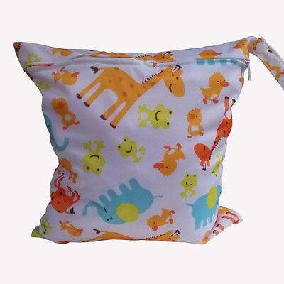Baby Nappy Waterproof Reusable Wet Dry Cloth Zipper Diaper Bag Swimmer Pouch x 1