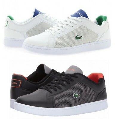 Lacoste Mens Endliner Lace Up Active  Black or White Lo Top Trainers