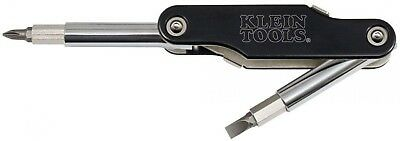 Klein Tools Multi-Bit Screwdriver Nut Driver 10-Fold Chrome Plated Steel 10-in-1
