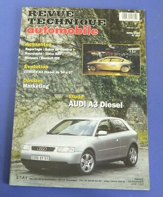 Revue technique automobile rta 616 (1999) Audi A3 diesel