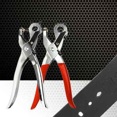 Belt Leather Hole Puncher Hand Machine Tool Punch Six Sizes Hole Punch Plier