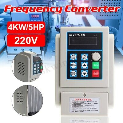 220V 4KW 5HP 20A Single To 3 Phase Frequency Converter Variable Drive Inverter