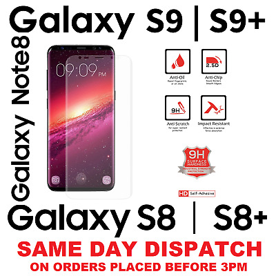 SAMSUNG GALAXY S9 S7 S8 PLUS FULL edge CURVED 3D TEMPERED GLASS SCREEN PROTECTOR