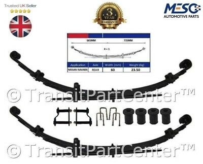 Pair Of Heavy Duty 4+1 Leaf Spring  Nissan Navara 4X4 D40 2.5 Dci 2005 Onward