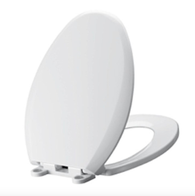 Swell Slow Close Hinge Elongated Closed Front Toilet Seat White Machost Co Dining Chair Design Ideas Machostcouk