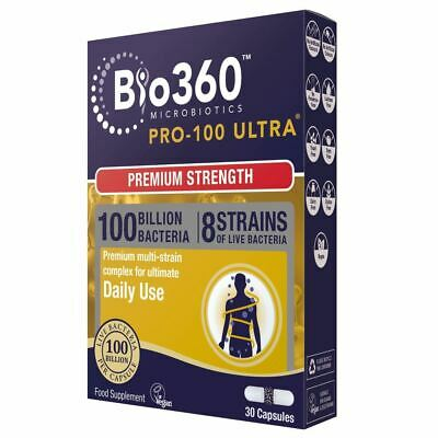 Natures Aid Pro-100 Ultra   Ultimate Strength - 30 Capsules 1 2 3 6 12 Packs