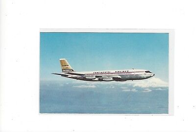 Continental Airlines issued  Boeing 707  postcard