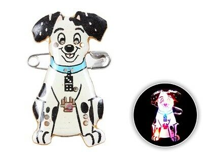 Pin's lumineux Dalmatien clignotant à LED broches Blinky broche chien  b-135