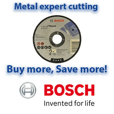 Bosch 115mm EXPERT METAL Cutting Discs | Angle Grinder Discs | Multi Listing