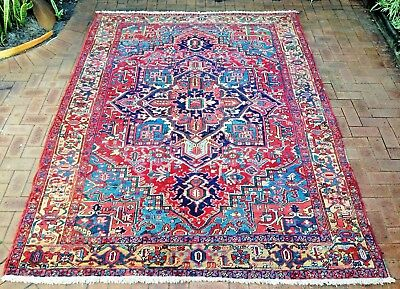 Persian Tabriz Heriz Authentic Hand-Knotted Collectable Rug (235 cm x 310 cm)