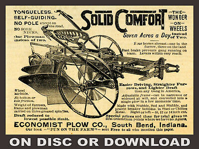 55x VINTAGE FARM MACHINERY CATALOGUE SCANS - Tractor / Plough / Harvester