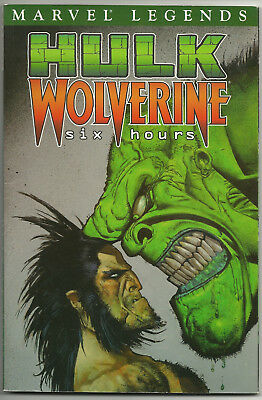 Marvel Legends V1 Hulk Wolverine Six Hours TPB 2003 FVF Bruce Jones Scott Kolins
